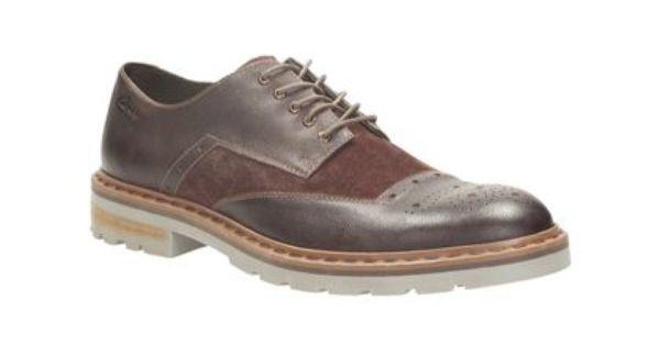 Clarks Mens Smart Dargo Limit Leather Shoes In Chestnutcombilea