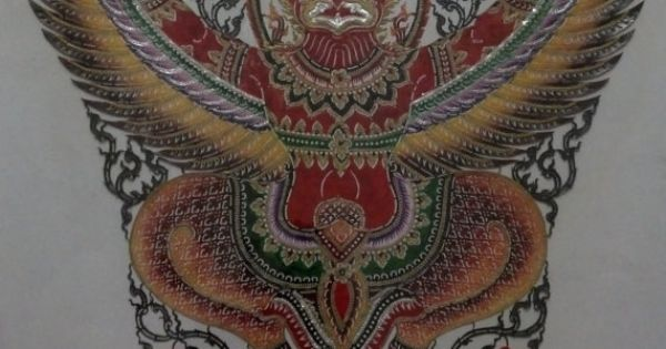 Garuda the handmade leather carving from thailand