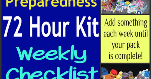 Build Your 72 Hour Emergency Kit in 52 Weeks (Checklist Included!)