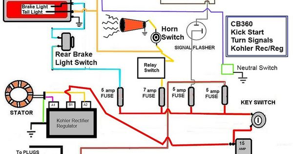 cafe motorcycle wiring diagram cafe image wiring cafe racer wiring turn signals cb750 research on cafe motorcycle wiring diagram