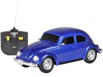 Carro De Controle Remoto Volkswagen Fusca Azul 07 Funcoes Cks