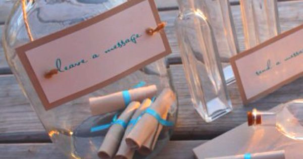 Message in a bottle... Engagement party idea!