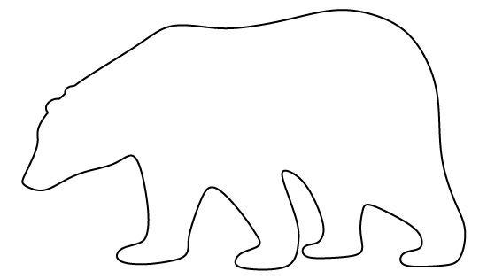 Polar Bear Pattern Use The Printable Pattern For Crafts