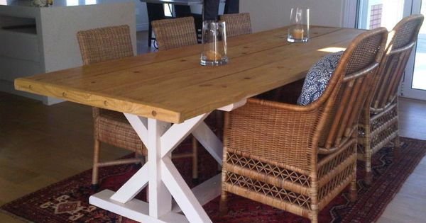 Farmhouse dining table with cross legs french farmhouse for 10 seater farmhouse table