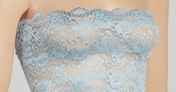 Look what I found on #zulily! Baby Blue Scallop Lace Bandeau - Women ...