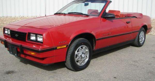 1986 Chevrolet Cavalier Z24 Convertible 2 8l Chevrolet Cavalier Chevrolet Gm Car