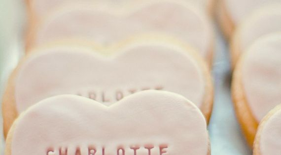 Wedding favor heart cookies I have no idea how you would do