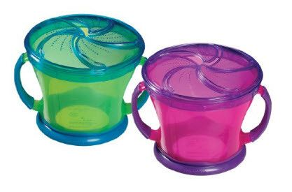 Munchkin Two Pack Snack Catchers Baby Food Containers Munchkin Snack Catcher Baby Food Storage Containers