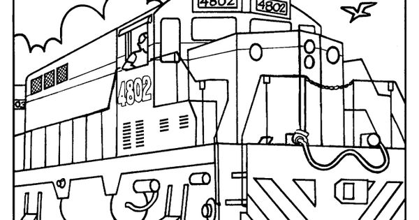 union pacific coloring pages | Trains and Railroads Coloring pages - Railroad Train ...
