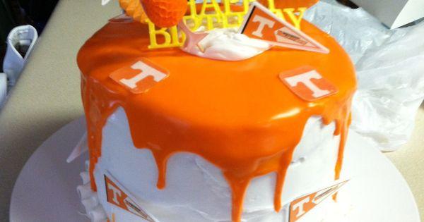 Big Orange Birthday Cake Go Vols Crafts I Have Made Or