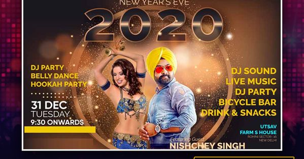 New Year Party Eve With Nischey Singh New Years Party Dj Party How To Memorize Things