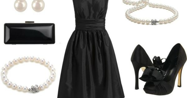 """Classic Audrey Hepburn Black Cocktail Dress by ggdesigns on Polyvore This is"
