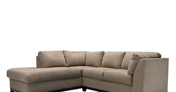 This Contemporary Kathy Ireland Home Wellsley 2 Piece Microfiber Sectional Sofa Features Mocha Co Microfiber Sectional Sectional Sofa Microfiber Sectional Sofa