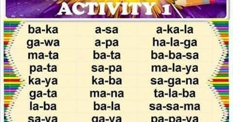 Remedial Reading In Filipino Activity 1 Activity 10 Reading Practice In Taga Remedial Reading Kindergarten Reading Activities Kindergarten Reading Worksheets