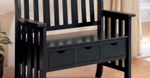 Black Deacon Bench Home Decorating Items Pinterest
