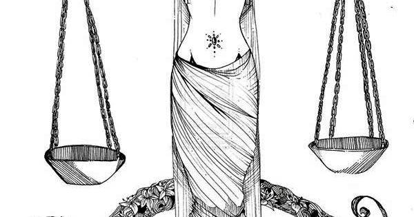 Libra Greek Mythology Goddess Of Justice Coloring Page