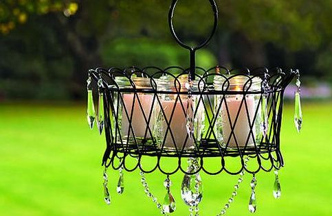 diy chandelier ideas - Bing Images reuse old rusty condiment server. Use