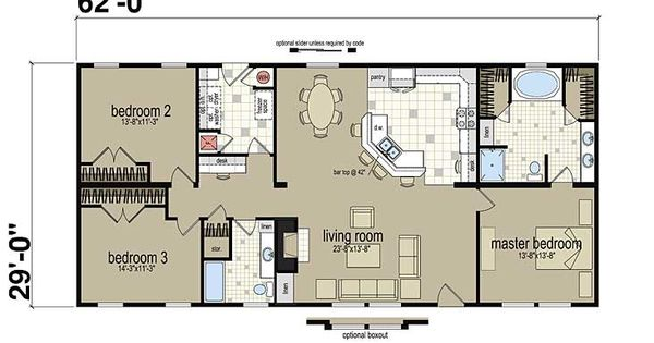 Floor plans 130 mod manufactured and modular homes for Modular homes with basement floor plans