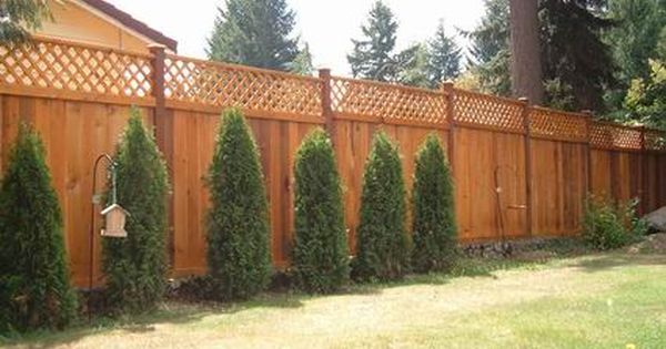 Pin By Jeanne Apel On Fences And Gates Fence With Lattice Top Backyard Porch Lattice Fence
