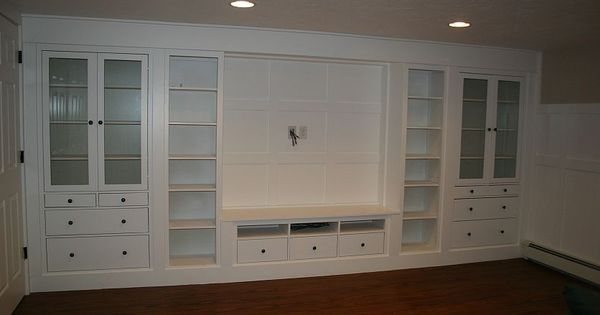 Ikea wall unit hack Amazing IKEA hack ~ We were looking for
