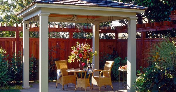 Simple Hip Roof Pavilion With Small Cupola Backyard