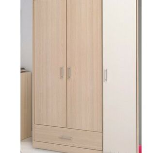 Latitude Run Maultsby 3 Door Wardrobe Armoire Wardrobe Furniture