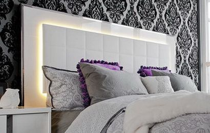 35 Led Headboard Lighting Ideas For Your Bedroom Headboard Designs Headboard With Lights Master Bedrooms Decor