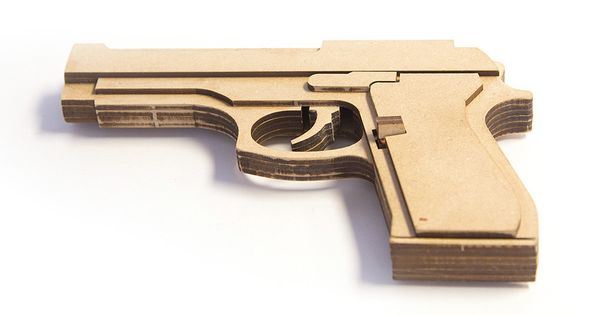 Wood Rubber Band Gun Kit Beretta M9 Toy Gun Supply