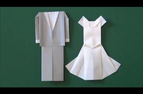 "Marriage ceremony ""Wedding dress"" origami - YouTube ... - photo#16"
