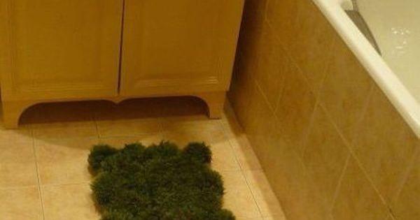 Pictorial how to make a moss bathmat for Make a moss bath mat