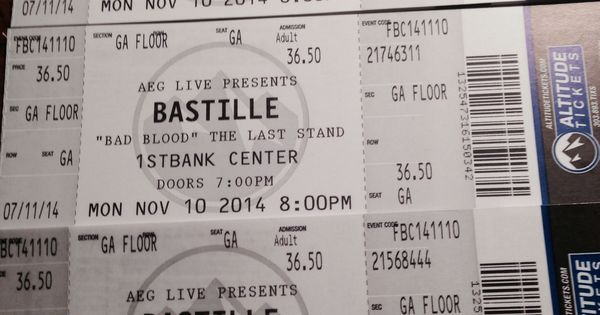 tickets for bastille