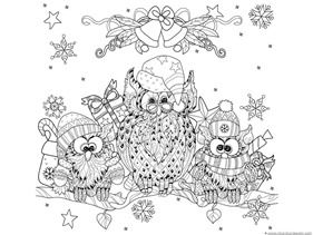 Winter Doodle Coloring Pages Owl Coloring Pages Animal Coloring Pages Christmas Coloring Pages
