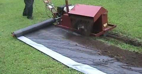 Patio Installation With A Trencher Youtube Patio Installation Trenchers Installation