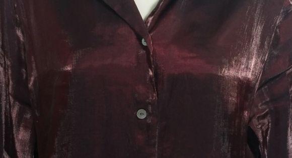 Villager Liz Claiborne Co Button Down Shirt Women S Shiny
