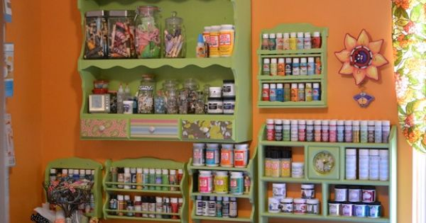DIY Storage idea. Beckie at Infarrantly Creative transformed thrift store spice racks