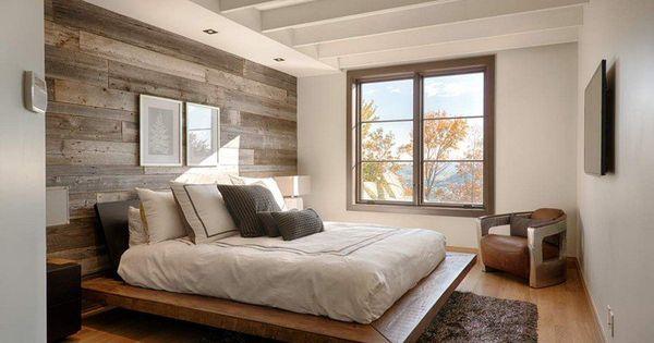 papier peint chambre d 39 aspect bois 30 id es magnifiques lambris mural papier peint chambre. Black Bedroom Furniture Sets. Home Design Ideas