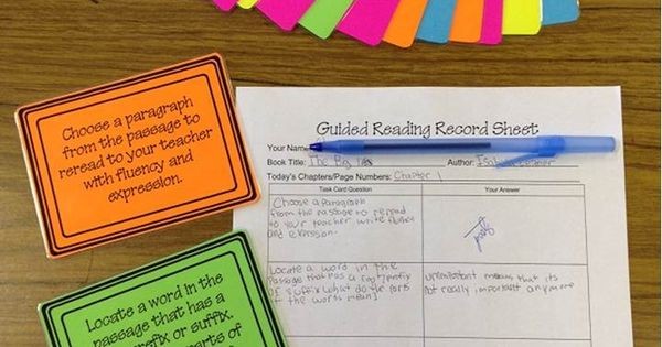 Guided Reading + Lit Circles - very student-centered organized. Tasks are common
