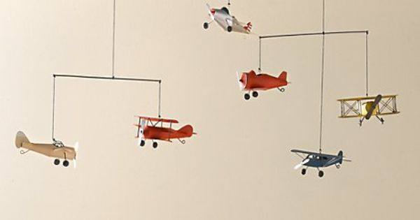 Vintage airplane mobile for the nursery