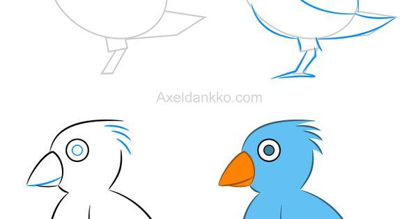 Comment dessiner un oiseau pinteres - Dessiner un oiseau ...