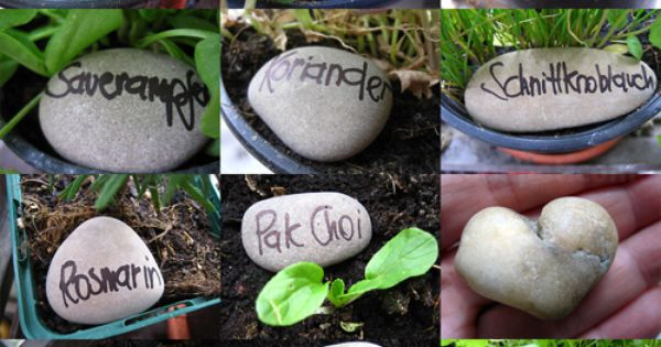 DIY great idea for name-tags in the garden! plant markers