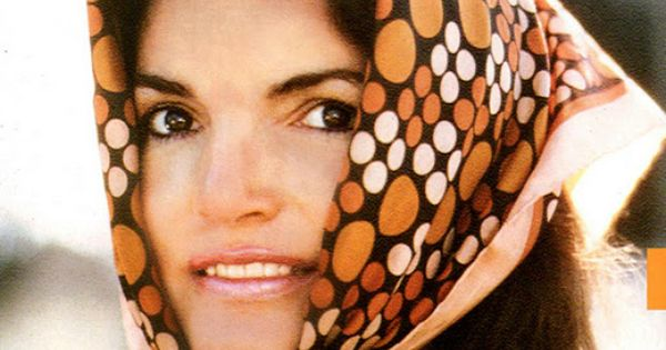 Jacqueline Kennedy Onassis and her head scarf