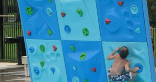 swimming pool rock wall. greatest idea ever.