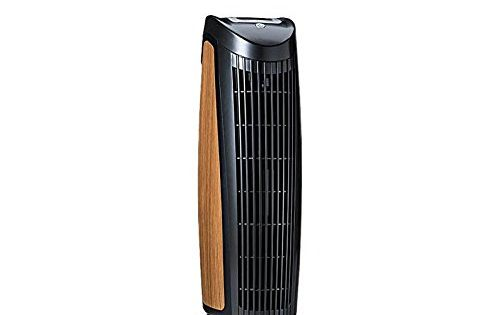 Alen T500 Allergenreducing 22inch Tower Air Purifier With Basic Hepa Filter 500 Sqft Black With Oak Inlay Tower Air Purifier Air Purifier Home Air Purifier