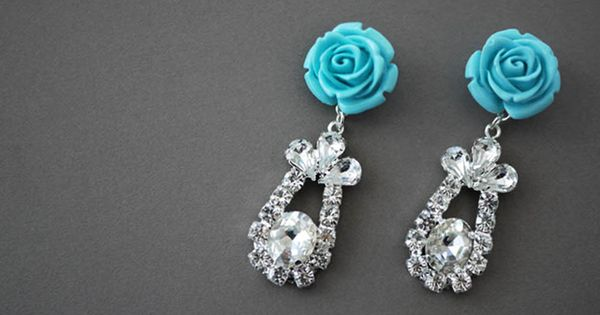 DIY Prada inspired rose earrings from HONESTLY...WTF.com