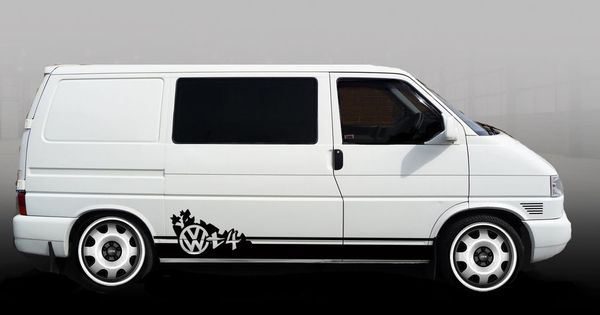 Vw T4 Transporter Swb New Vdubz Stripes Decal Graphics Vdub Stickers Dub In Vehicle Parts
