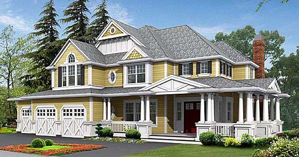Country Craftsman Farmhouse House Plan 87585 Craftsman