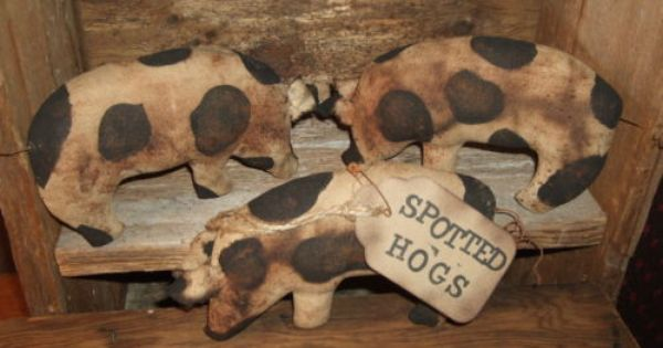 Primitive Cow Bowl Fillers//Ornies// Rustic Country Decor