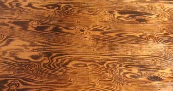 Burnt Plywood Sheet Floor Floors Pinterest