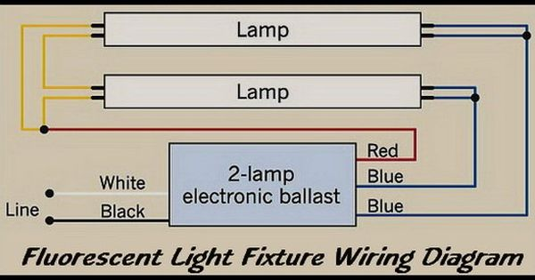 Fluorescent Light Fixture 2 Lamp Wiring Diagram Fluorescent Light Fixture Fluorescent Light Light Fixtures