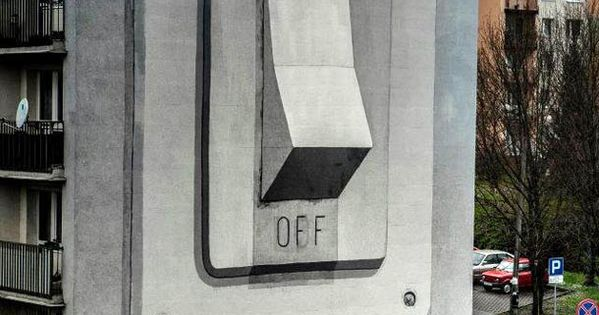 Light Switch. Spanish street artist escif recently painted this giant on/off switch